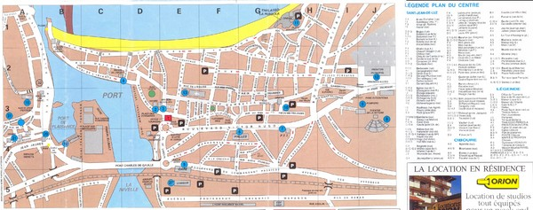 Saint Jean de Luz - centre Map