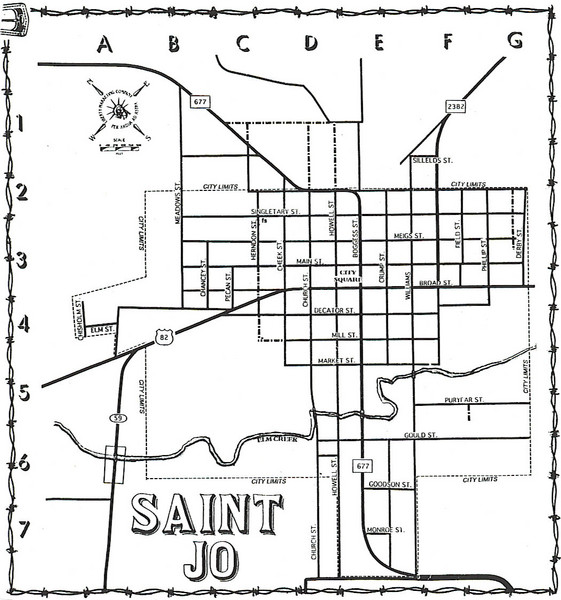 Saint Jo City Map