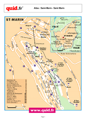 Saint Marin City Map