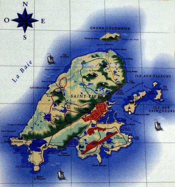 Saint Pierre And Miquelon Maps Mappery - Saint pierre and miquelon map