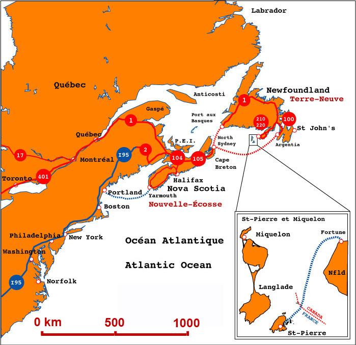 Saint Pierre And Miquelon Regional Map  Saint Pierre And