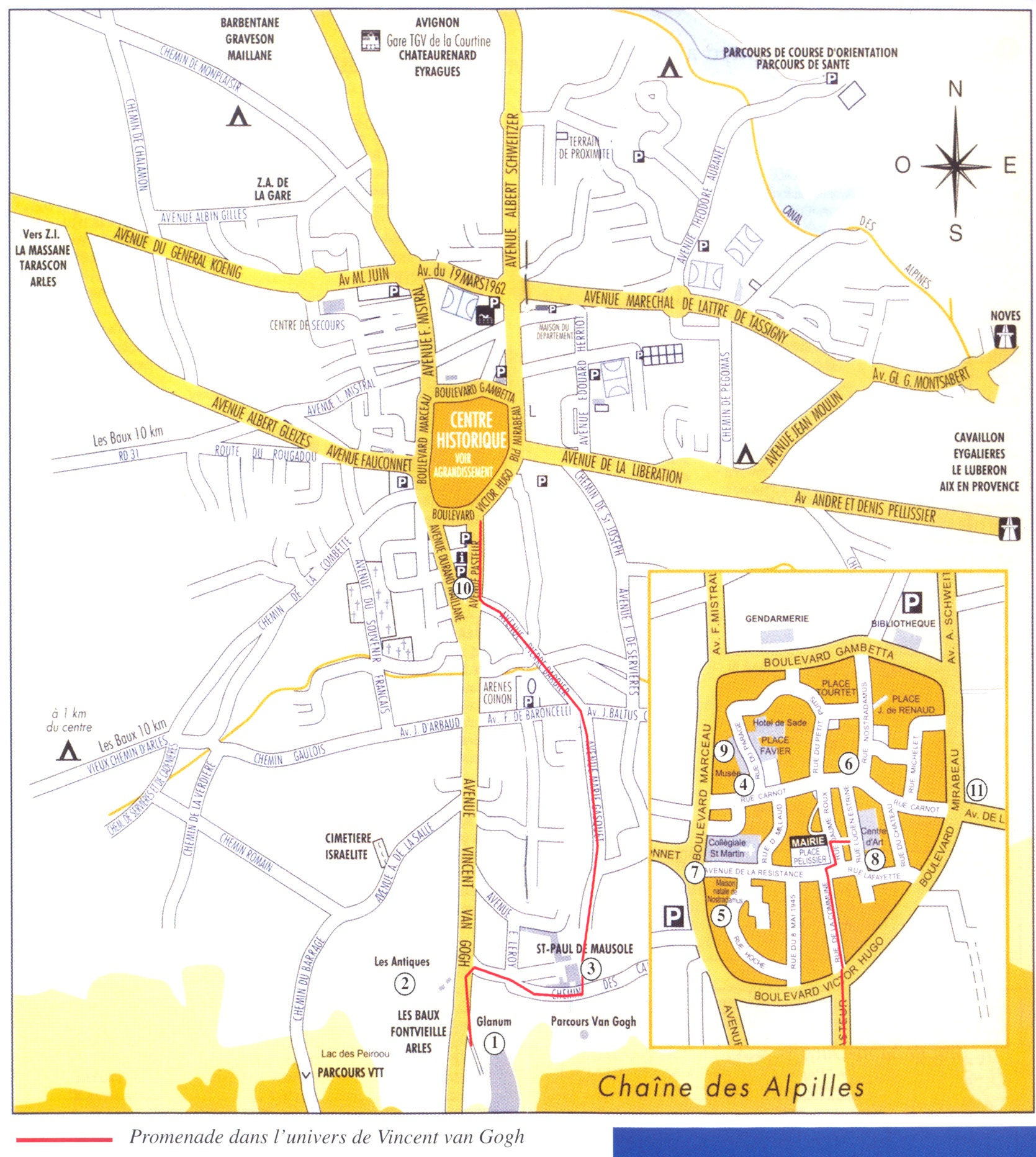St Remy De Provence France Map