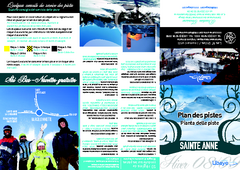 Sainte-Anne la Condamine Ski Trail Map