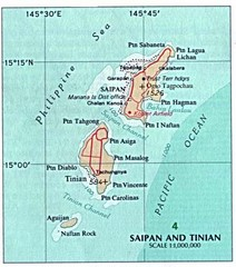 Saipan and Tinian Islands Tourist Map