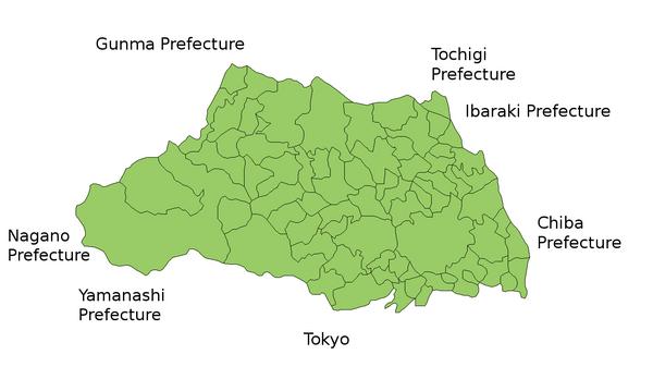 Saitama Prefecture Map - Saitama • mappery