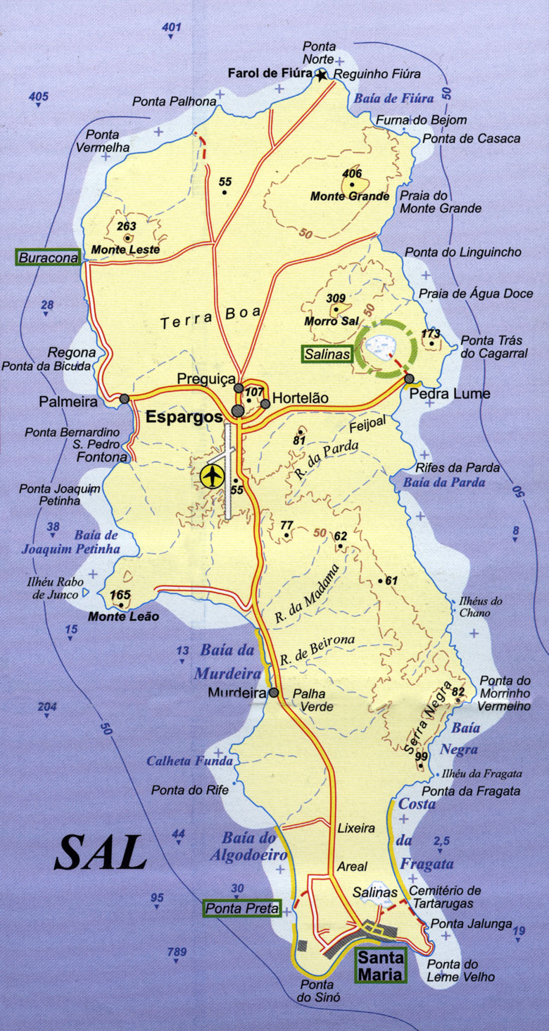 cape verde map sal