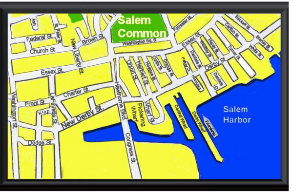 Salem, Massachusetts Guide Map