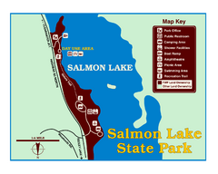 Salmon Lake State Park Map