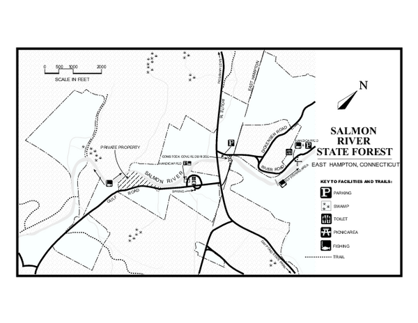 Salmon River State Forest trail map