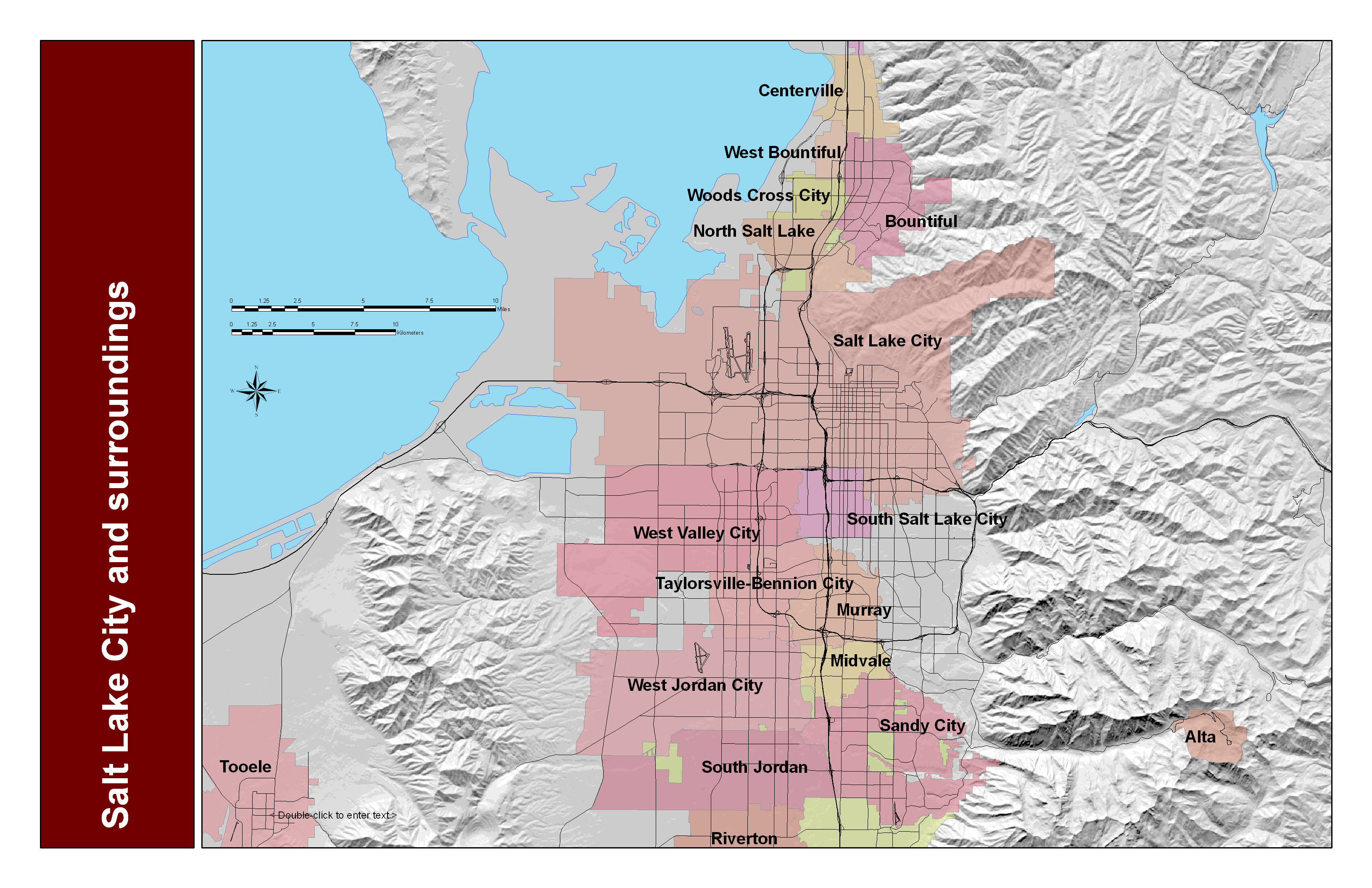 Salt Lake City and Surrounding Area Map Salt Lake City mappery – Salt Lake City Tourist Map