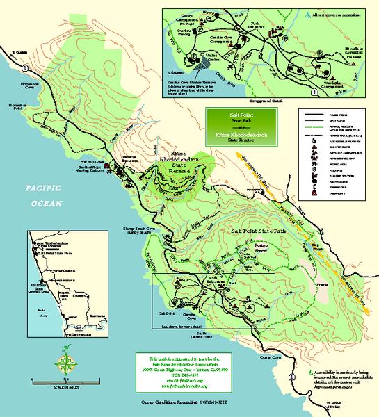 Saltpointstateparkmapmediumthumbpdf 545�600: California State Map Pdf At Codeve.org