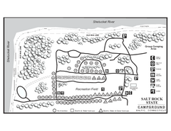 Salt Rock State Park campground map