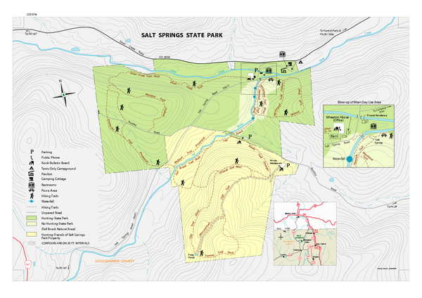 Salt Springs State Park Map Dalton Pa 18414 9785 Mappery