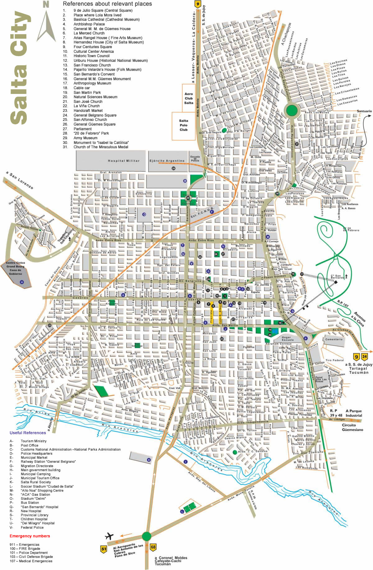 Salta Tourist Map Salta Argentina mappery – Tourist Map of Argentina