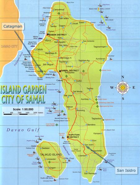 Island Garden City Of Samal Map
