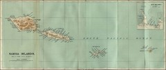 Samoa Islands 1889 Map