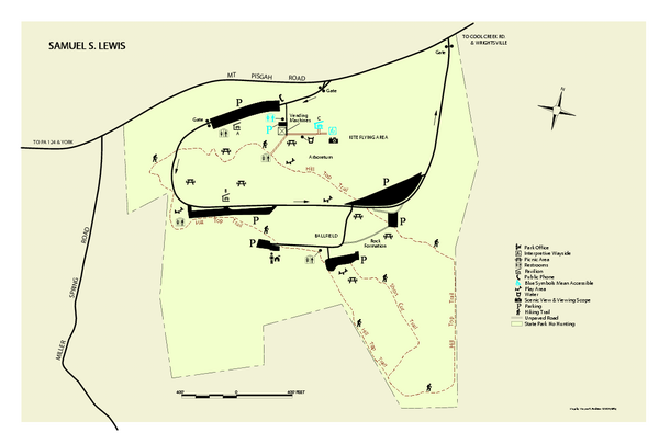 Samuel S. Lewis State Park map