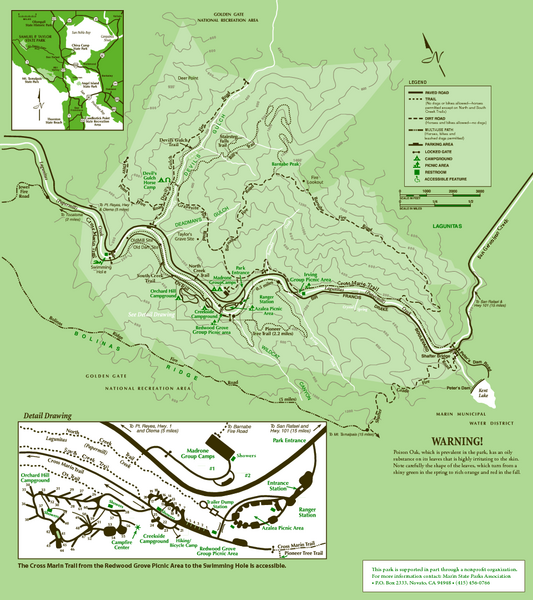Samuel Taylor State Park Trail Map