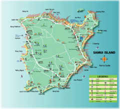 Samui Tourist Map
