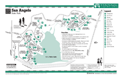 San Angelo Texas State Park Facility and Trail Map - San ... on snyder texas map, st. hedwig texas map, denton texas map, eagle pass texas map, stephenville texas map, new braunsfels texas map, fort smith texas map, wichita falls texas map, marble falls texas map, ballinger texas map, abilene texas map, laredo texas map, pasco texas map, lake texana texas map, fort concho texas map, galveston texas map, houston texas map, nw san antonio texas map, texas county map, deming texas map,