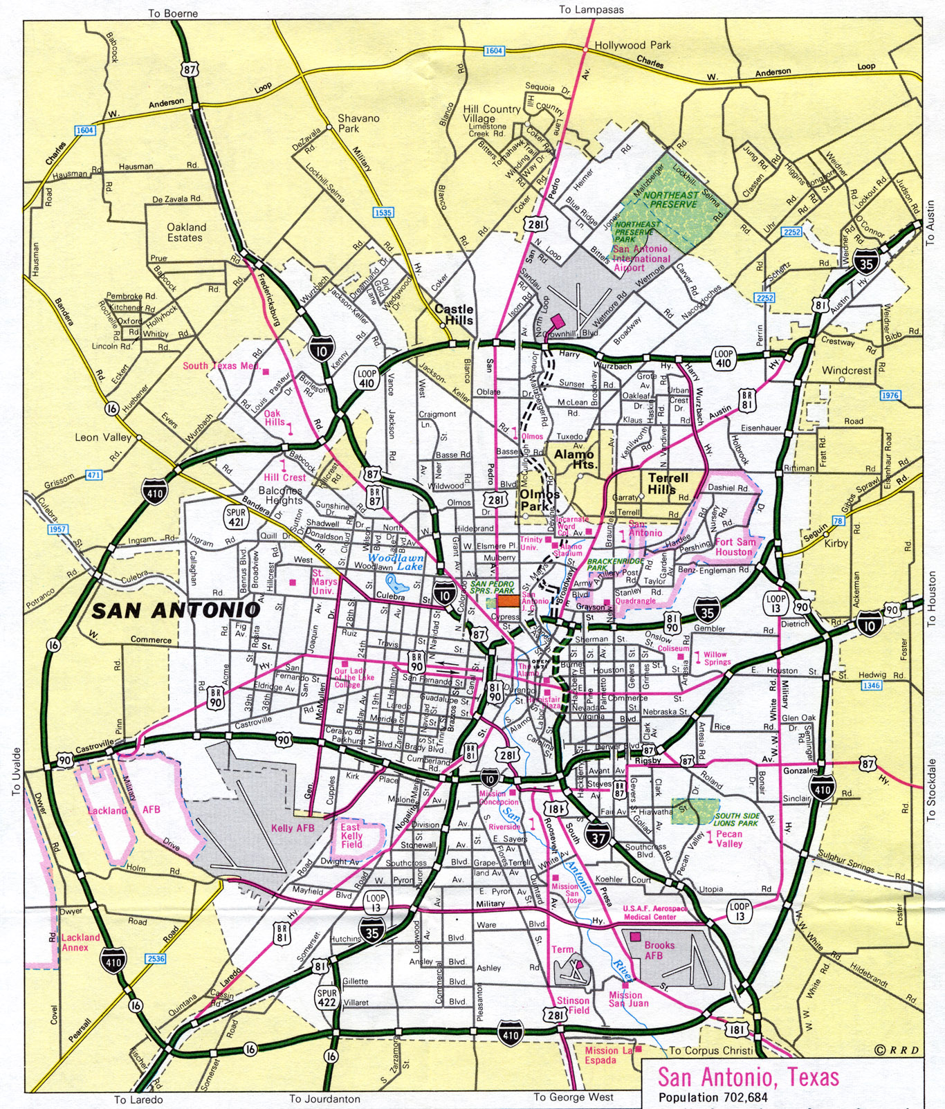 Map San Antonio Texas | Business Ideas 2013
