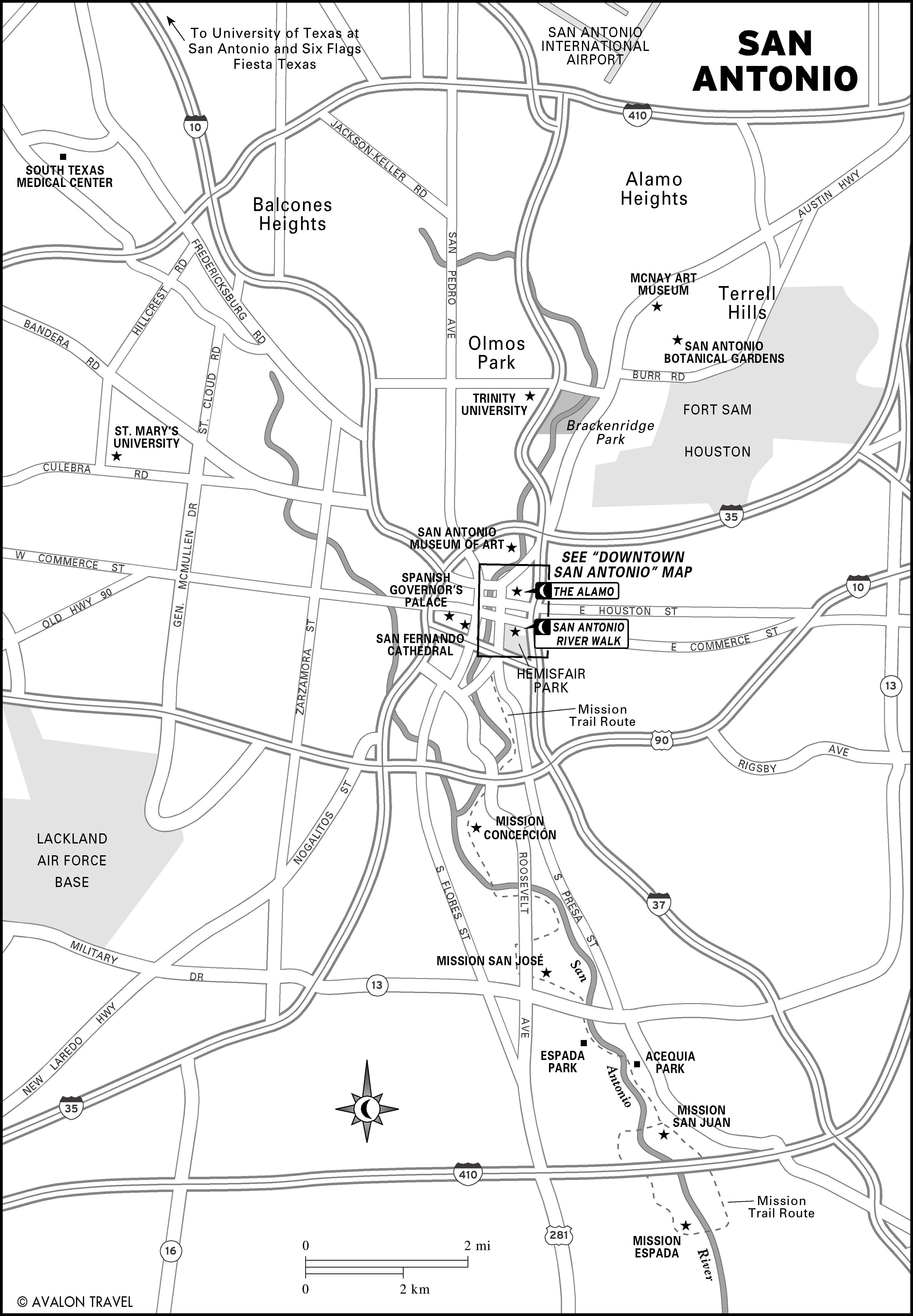 San Antonio Texas Tourist Map San Antonio Texas mappery – San Antonio Tourist Map