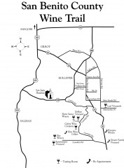 San Benito County Wine Trail Map
