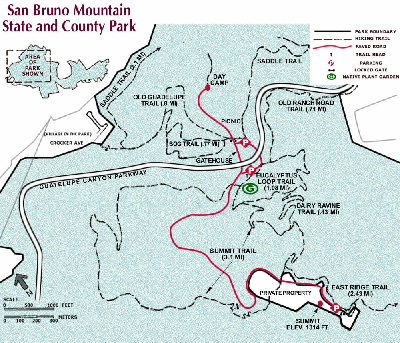San Bruno Mountain Park Map