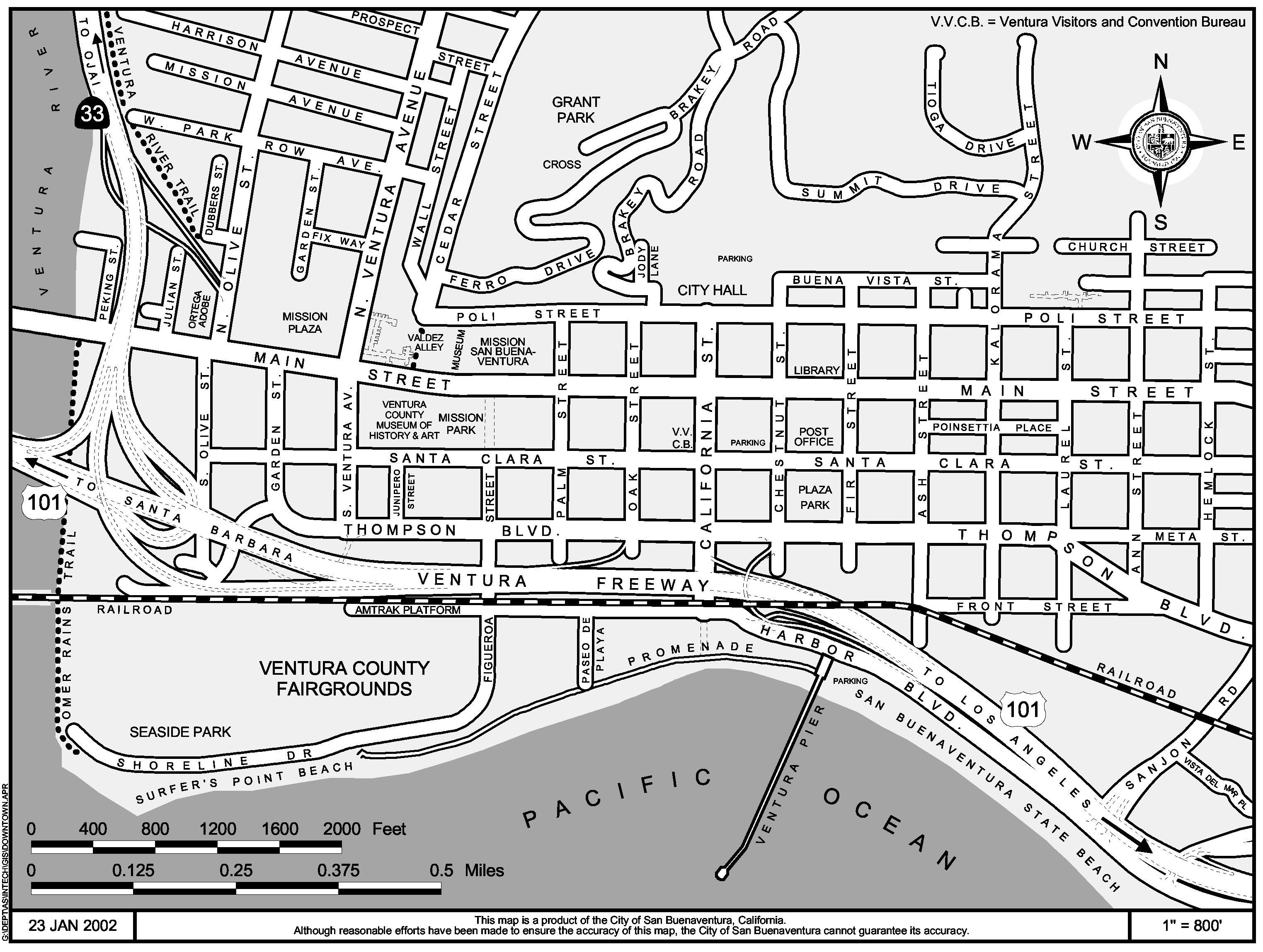 San Buenaventura Map San Buenaventura CA USA mappery