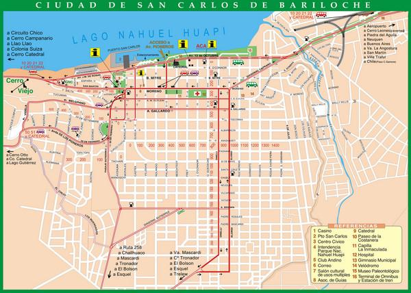 San Carlos De Bariloche Tourist Map San Carlos De Bariloche Rio - Argentina map bariloche