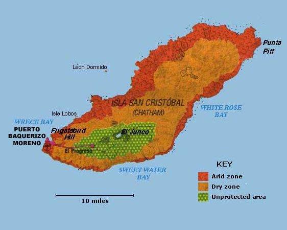 San Cristobal Island Map