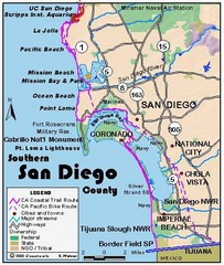 San Diego Beach Map