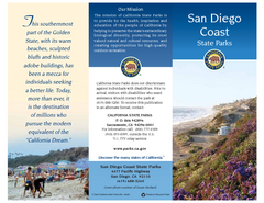 San Diego Coast State Parks & Beaches Map