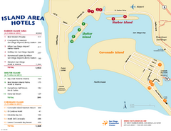 San Diego Island Tourist Map
