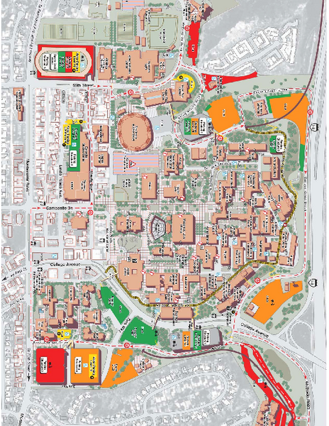 San Diego State University Map San Diego California Mappery