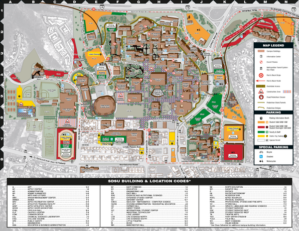 Sdsu Campus Map Pdf.Images And Places Pictures And Info San Diego State University