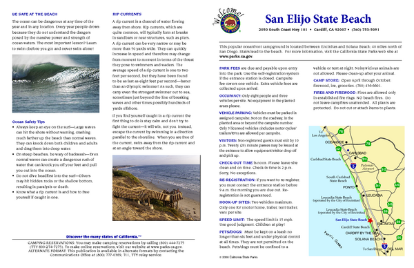 San Elijo State Beach Campground Map