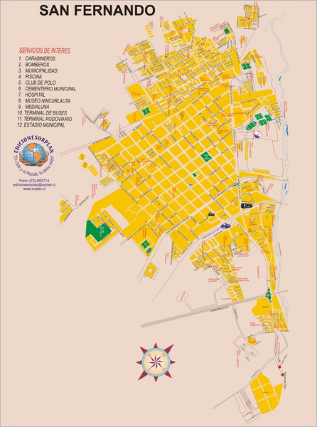 San Fernando Tourist Map