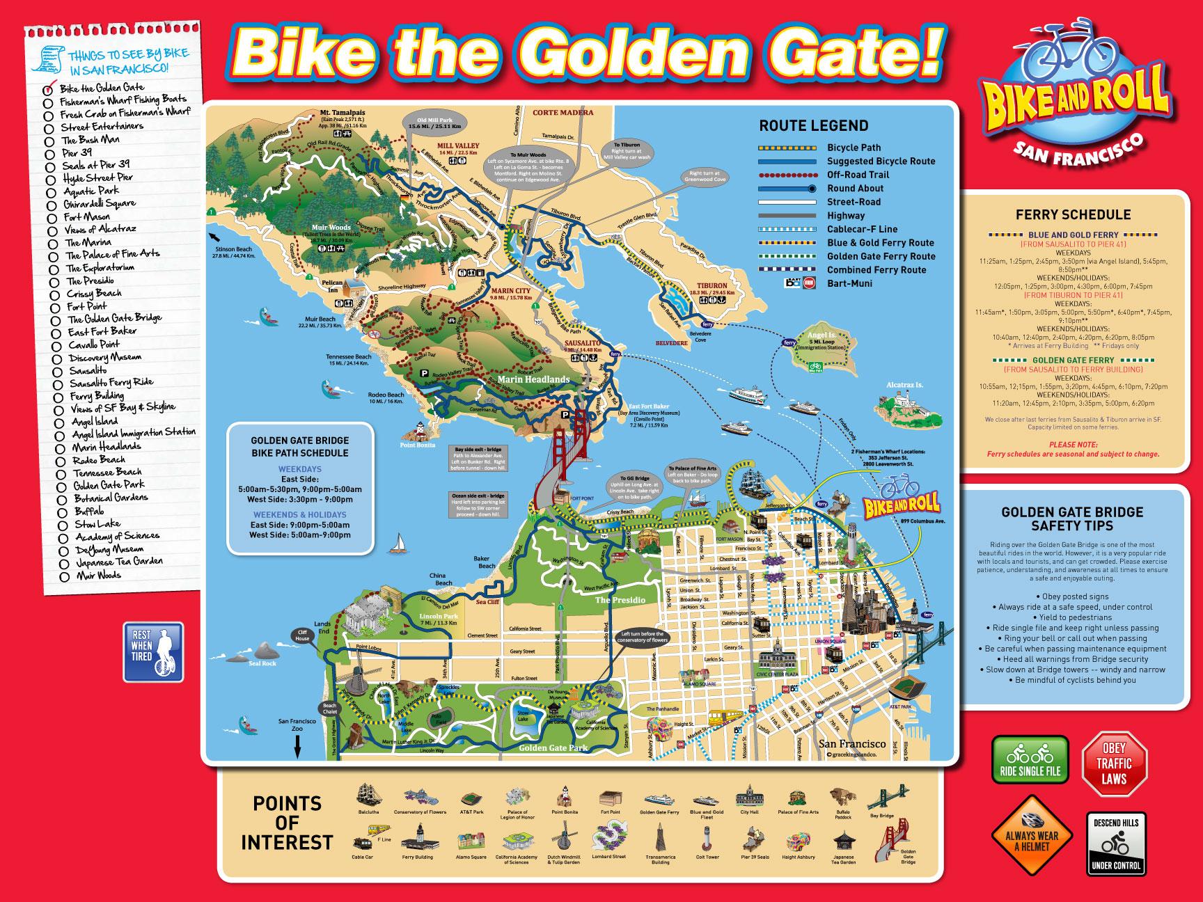 San Francisco Bike Map   San Francisco • mappery