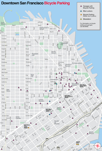 San Francisco Bike Parking Map
