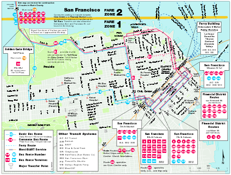 San Francisco Bus and Ferry Map - san francisco ca • mappery on zone map of corpus christi, information of san francisco, flowers of san francisco, resources of san francisco, zone map of paris, zone map of hong kong, trees of san francisco, zone map washington, zone map of united states, zone map of rio de janeiro, secrets of san francisco, zone map of tulsa, zone map of wisconsin,