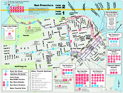 San Francisco Bus and Ferry Map