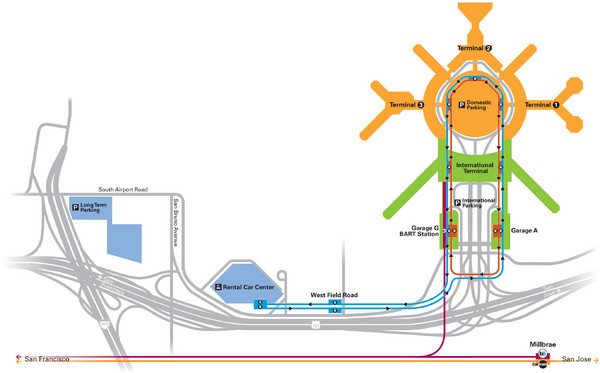 San Francisco International Airport Map