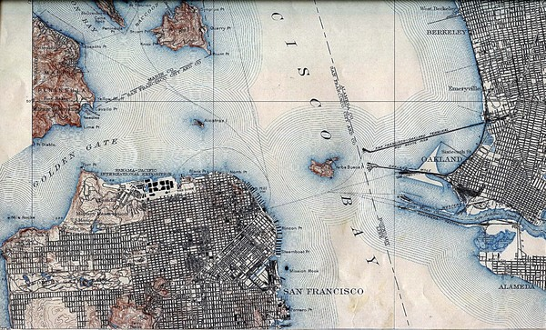 San Francisco Map 1915