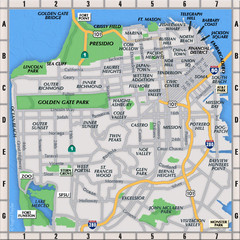 San Francisco Neighborhoods Map