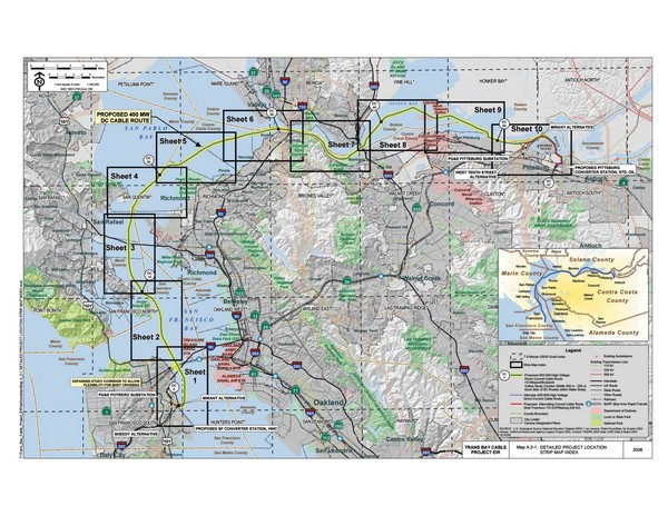 San Francisco Trans Bay Cable Project EIR Map