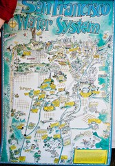 San Francisco Water System Cartoon Map