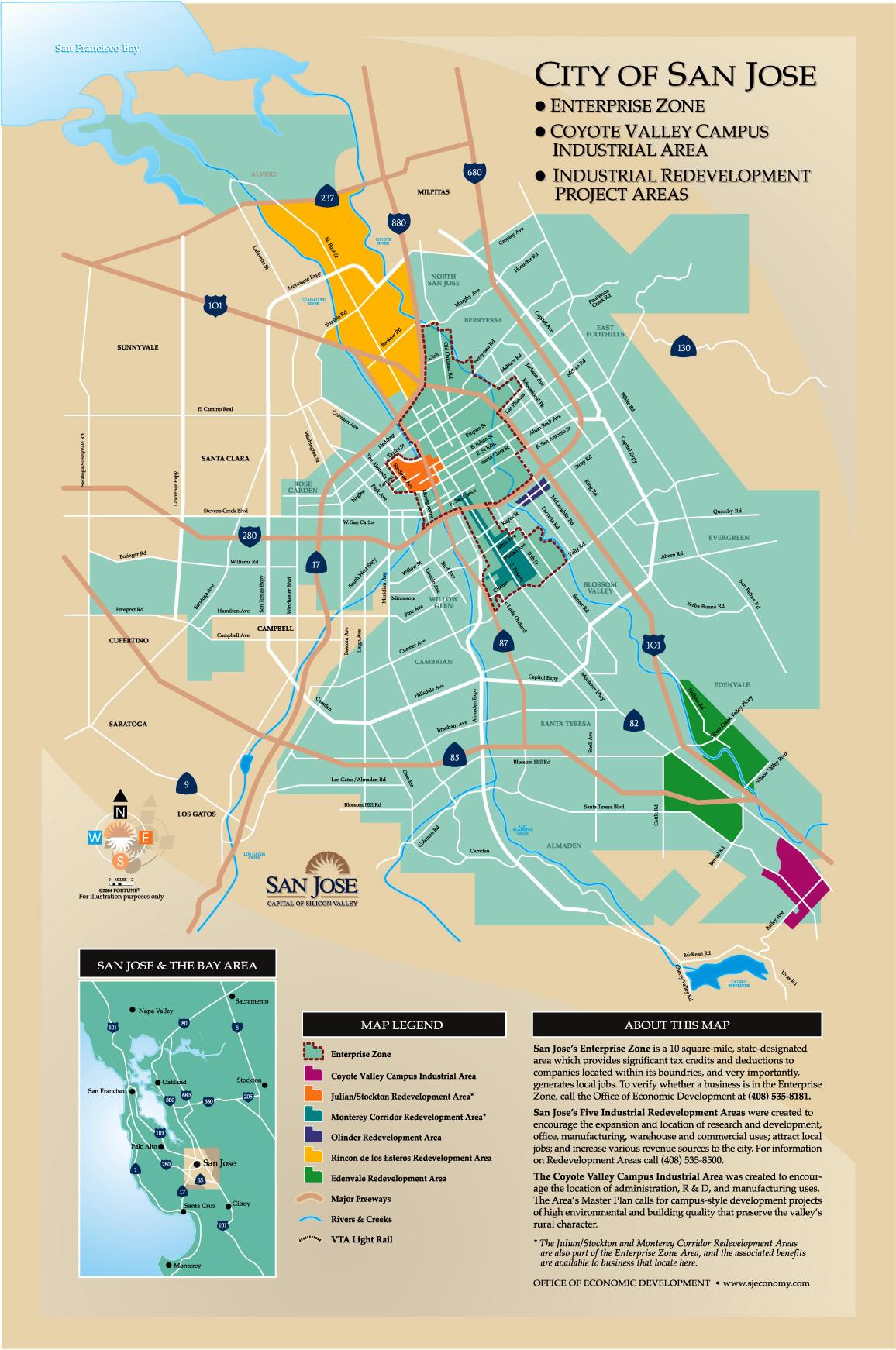 San Jose Enterprise Zone map - San Jose CA • mappery