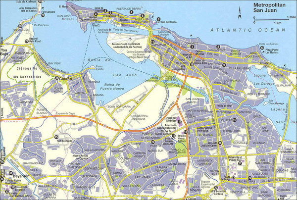 Puerto Rico maps mappery – Puerto Rico Tourist Map
