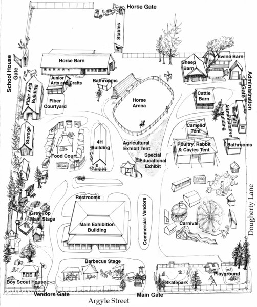 San Juan County Fair Map 2008